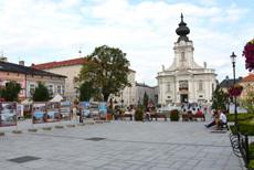 Sytem odwodnień przed Bazyliką w Wadowicach